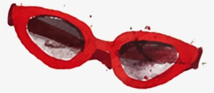 1816db6a94 Goggles Red Sunglasses Watercolor Painting - Red Sunglasses Watercolor  7121