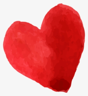 Watercolor heart. Png transparent image free