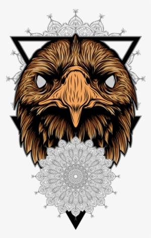 f7548a1ee4a Eagle And Mandala Illustration