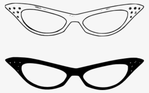 accdef0361 Glasses Clip Art With Blinking Eyes - Cat Eye Sunglasses Clip Art  12247