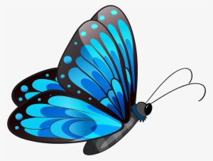 459ed5a35 Transparent Blue Butterfly Png Clipart - Blue Butterfly Clipart Png #104742