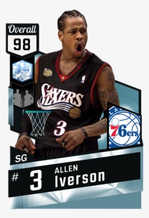 666b84286acb Nba Drawing Allen Iverson Png Library - Nba 2k18 Player Cards  1033683
