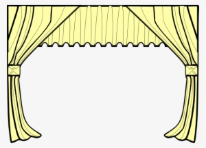 Red Stage Curtain Isolated On White Window Valance