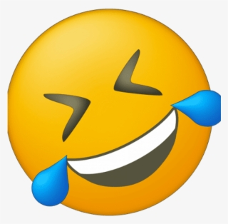 Crying Laughing Emoji Meme Distorted - Open Eye Crying ...