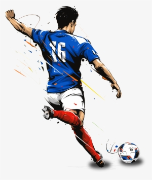Hand Drawn Cartoon Character Kicking Ball Decoration - 2018 World Cup   141845 238f5defb