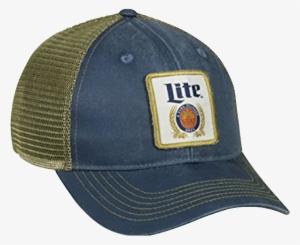 cccc02b048b76 •n011073• Drinks •miller Beer - Outdoor Cap Miller Lite Mesh Back Cap