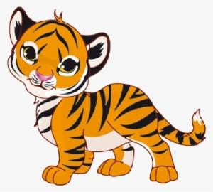 b3e087356 Tiger Cubs Cute Cartoon Animal Images On A Transparent - Tiger Clipart  #151604