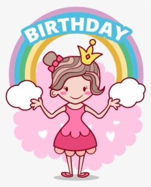 Happy Birthday Illustration Of Beautiful Princess