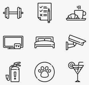 Hotel Service 50 Icons - Fitness Icons Transparent Background  1537957 6f04948d70ab