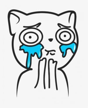 Crying Cat Meme Transparent