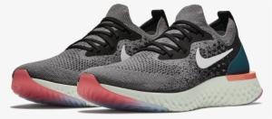 Men s Epic React Flyknit Running Shoe - Nike Epic React Flyknit Gunsmoke  Black Geode Teal White 65b6914cdd55