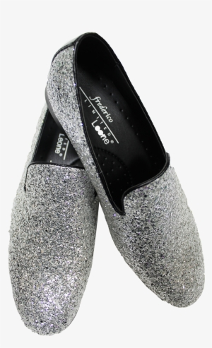355e9fc7e1b4 Picture Of Silver Sparkle Shoe Picture Of Silver Sparkle - Slip-on Shoe   1862474