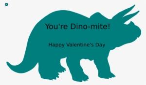 Valentine dinosaur. Png transparent image free
