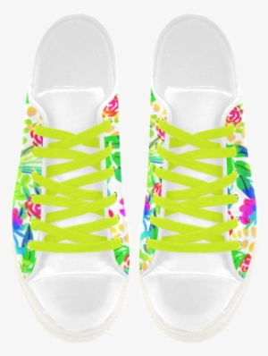 a550f713e077 Cute Tropical Watercolor Flowers Aquila Microfiber - Shoe  1975334
