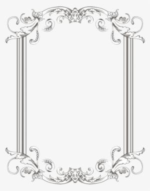 INSTANT DOWNLOAD 2 Ornate Vintage Border Corners Frames Set Labels Download Individual PNG