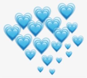 216 2162458 blue hearts heart emoji emojis freetoedit remixit blue