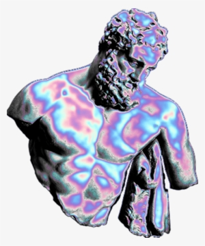 acdfc6b26485d Holo Holographic Vaporwave Aesthetic Tumblr Freetoedit - Statue Png  228058