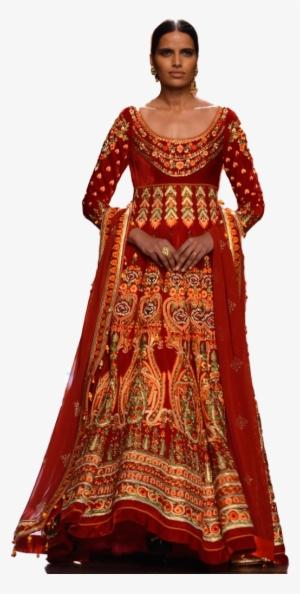 cd136f7045883 Red Color Anarkali In Velvet Anarkali Lehenga