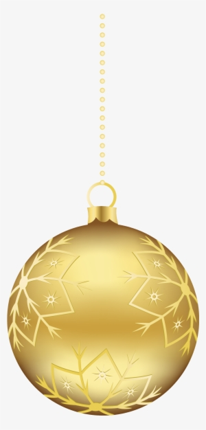 Gold Christmas Ornament Png Transparent Gold Christmas Ornament Png