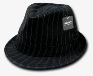 bea2f4aae24d56 Decky Double Pinstripe Black White Fedora Fedoras Hat - Double Pinstripe  Fedora, Style 554,