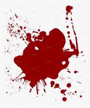 Cartoon Blood Splatter PNG, Transparent Cartoon Blood