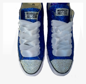 ae38afa56e8 Womens Sparkly Royal Blue Glitter Crystals Converse - Plum Wedding Shoes   3007533