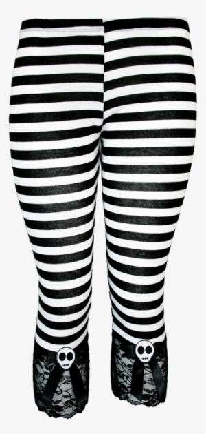 176ebd1f56802 Jessica Louise Women s Black white Stripe Skull Capri - Dark Striped  Leggings Plus Size