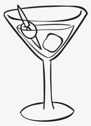 5909e238fce91 Cocktail Glass With Ice Cube Vector - Cocktail Glass Icon Transparent  Background  343267