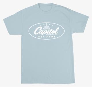7d8c2672 Capitol Records Classic Logo T-shirt Blue - Capitol Records T Shirt #3894860