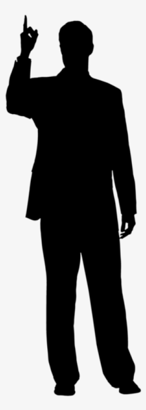 mypuzzledesign business man standing silhouette in - 300×838