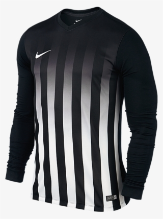 779451d6e0e1e Nike Football Shirt Striped Division L s Black white  4159147