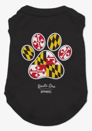 2ca3ddde0df Maryland Paw Print   Dog Shirt - Emblem  426057