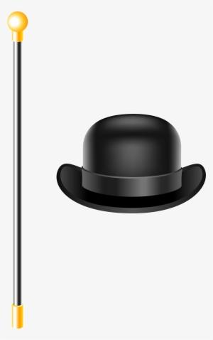 189ab45763f Top Hat Clipart Bowler Hat - Cane Clipart Transparent Background  436989