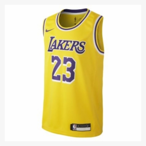 5405289fc Lebron James Los Angeles Lakers Nike Icon Edition Swingman - Lebron James  Laker T Shirts