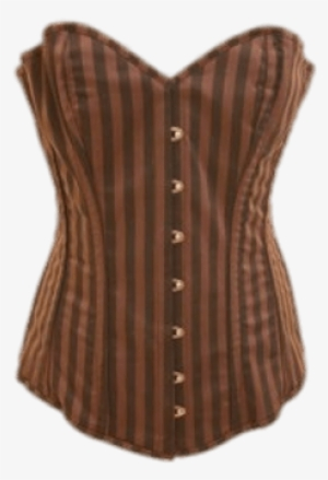 dee1b1855ac Brown Striped Corset - Corset  457301