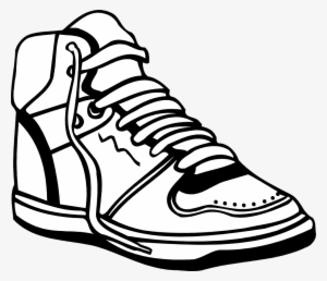 054a4254fb8d Nike Run Clip Art At Clker - Shoe Images Black And White  50454