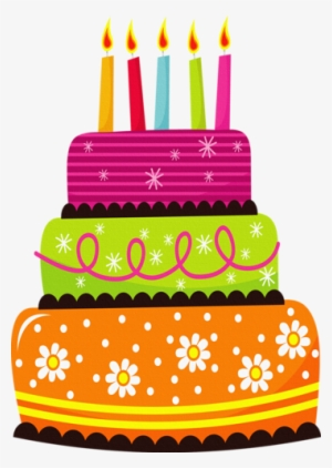 Cake Clipart Blue Birthday Pics Words