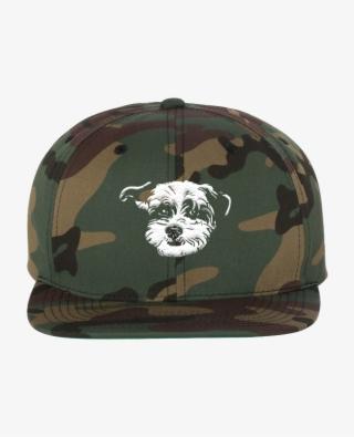 86bd2dd51d0c7 Horton Hat In Camo - Yupoong Classic Flat Bill Snapback Cap, Green #5557531