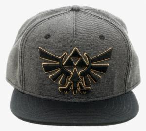 43b14818d196f Bioworld - Snapback Cap - Zelda - Gray - Symbol - Front - Zelda Snapback