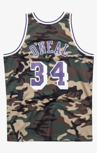 Los Angeles Lakers Shaquille O neal Woodland Camo Swingman - Los Angeles  Lakers  5772416 186729898