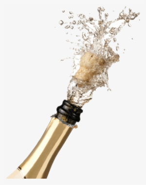 Transparent Clipart Champagne Bottle Popping , Free Transparent Clipart -  ClipartKey
