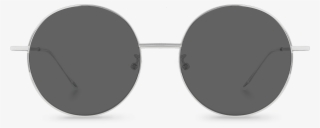 61c818912b1 Front View Of Exciter Black Round Sunglasses Made From - Sunglasses  6141111