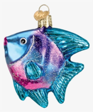 Tropical Angel Fish - Old World Christmas Glass Blown Blue Angel Fish  Ornament  734041 3413ccc50013