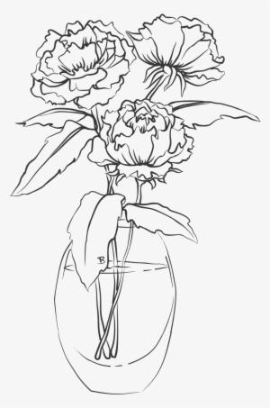 Flower Simple Flower Vase Sketch