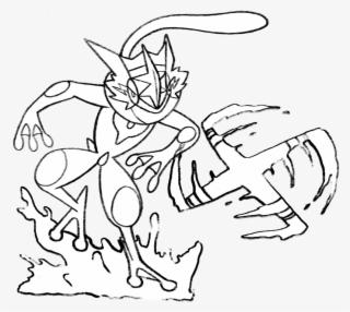 Pokemon Ash Greninja Coloring Pages