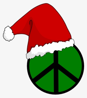 61a3a72bc0d0c Santa Hat Peace Sign Clip Art At Clker - Transparent Background Christmas  Hat  777499