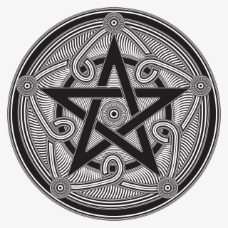 Pentagram Pentacle Moon Star Wicca Pagan Wiccan Gothic