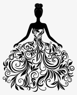 Quince Dress Clip Art