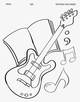 Guitar Outline Transparent Guitar Outline Image Free
