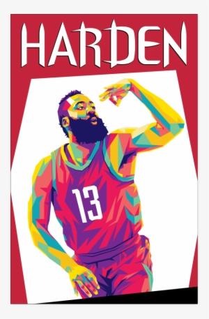 e4add5a6c92 James Harden Pop Art Poster - James Harden Pop Art  937099